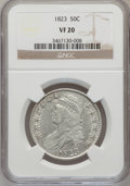 Bust Half Dollars: , 1823 50C VF20 NGC. NGC Census: (7/643). PCGS Population (17/718).Mintage: 1,694,200. Numismedia Wsl. Price for problem fre...