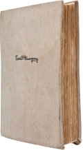 Books:Signed Editions, Ernest Hemingway. For Whom the Bell Tolls. New York: CharlesScribner's Sons, 1940. First edition. Presentation co...