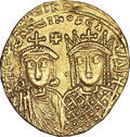 Ancients:Byzantine, Ancients: Constantine VI and Irene (AD 780-797). AV solidus (4.46 gm). ...