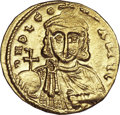 Ancients:Byzantine, Ancients: Leo III the Isaurian and Constantine V (AD 717-741). AVsolidus (4.43 gm). ...