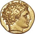 Ancients:Greek, Ancients: MACEDONIAN KINGDOM. Philip II (359-336 BC). AV stater(8.60 gm). ...