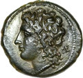Ancients:Greek, Ancients: Acragas. Under the tyrant Phintias (287-279 BC). AE 22 mm(6.78 gm). ...