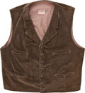 "Movie/TV Memorabilia:Costumes, A Vest from ""Cahill U.S. Marshal.""... (Total: 2 Items)"