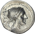 Ancients:Greek, Ancients: The Bretti. Ca. 216-214 BC. AR drachm (4.73 gm). ...