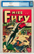 Golden Age (1938-1955):Superhero, Miss Fury #6 (Timely, 1945) CGC NM+ 9.6 Off-white pages....