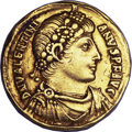 Ancients:Roman Imperial, Ancients: Valentinian I (AD 364-375). AV solidus (4.50 gm). ...