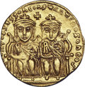 Ancients:Byzantine, Ancients: Leo IV the Khazar, with Constantine VI (AD 775-780). AVSolidus (4.38 gm). ...