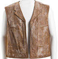 "Movie/TV Memorabilia:Costumes, A Vest from ""The Undefeated.""..."