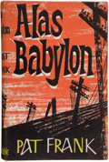 Books:First Editions, Pat Frank. Alas Babylon. London: Constable and Company,1959. First British edition. Octavo. 254 pages. Crisp and br...