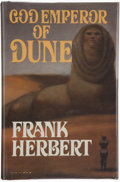 Books:Science Fiction & Fantasy, Frank Herbert. God Emperor of Dune. New York: G. P. Putnam's Sons, [1981]. First edition. Inscribed and signed...