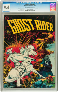 Ghost Rider #3 (Magazine Enterprises, 1951) CGC NM 9.4 Off-white to white pages