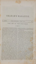 Books:First Editions, [Edgar Allan Poe]. Graham's Magazine. Volume XXVII. No. 1 -No. 6. Philadelphia: George R. Graham, 1845. First e...