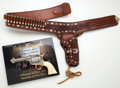Handguns:Single Action Revolver, Exquisitely Hand Tooled John Bianchi Gun Belt Ensemble Donated by the Maker to Benefit the NRA Firearms for Freedom Auction.... (Total: 4 Items)