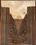 American Indian Art:Weavings, Huarmey Mantle with Mountain Valley Image...