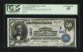 National Bank Notes:Maryland, Baltimore, MD - $50 1902 Date Back Fr. 667 The National MechanicsBank Ch. # (E)1413. ...