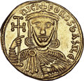Ancients:Byzantine, Ancients: Nicephorus I and Stauracius (AD 802-811). AV solidus(4.42 gm). ...
