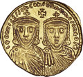 Ancients:Byzantine, Ancients: Leo IV the Khazar and Constantine VI (AD 775-780). AVsolidus (4.47 gm). ...