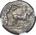 Ancients:Greek, Ancients: Syracuse. Deinomenid Tyranny. Ca. 485-466 BC. ARtetradrachm (16.86 gm). ...