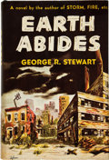 Books:Science Fiction & Fantasy, George R. Stewart. Earth Abides. First edition, firstprinting. Octavo. 373 pages. Publisher's dark blue over li...