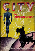 Books:Science Fiction & Fantasy, Clifford D. Simak. City. [New York]: Gnome Press, [1952].First edition. Octavo. 224 pages. Publisher's light gr...