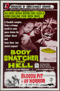 """Movie Posters:Horror, Body Snatcher from Hell/Bloody Pit of Horror Combo (Pacemaker,1969). One Sheet (27"""" X 41""""). Horror.. ..."""