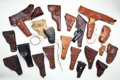 Arms Accessories:Holsters, Lot of Assorted Military Style Leather Holsters....