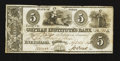 Obsoletes By State:Ohio, Fulton, OH- Orphan Institute's Bank $5 Apr. 2, 1838 G8 Wolka1152-10. ...