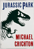 Books:First Editions, Michael Crichton. Jurassic Park. New York: Knopf, 1990.First edition, first printing. Octavo. Publisher's binding a...