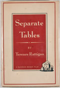 Books:First Editions, Terence Rattigan. Separate Tables. New York: Random House,[1955]. First edition, first printing. Octavo. Publisher'...