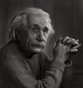 Photographs:20th Century, YOUSUF KARSH (Canadian, 1908-2002). Albert Einstein, 1948.Gelatin silver, printed later. 16-3/4 x 15-3/4 inches (42.5 x...