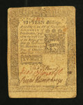 Colonial Notes:Pennsylvania, Pennsylvania October 25, 1775 15s Very Fine.. ...