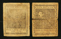 Colonial Notes:Continental Congress Issues, Continental Currency January 14, 1779 $1 Very Fine; $3 Fine. ...(Total: 2 notes)