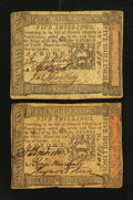 Colonial Notes:Pennsylvania, Pennsylvania October 1, 1773 5s Fine-Very Fine. Two Examples.. ...(Total: 2 notes)