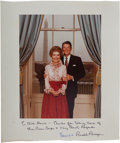 """Autographs:U.S. Presidents, Ronald and Nancy Reagan Official White House Color Photograph Inscribed """"To Bill Davis - Thanks for taking care of/ the ..."""