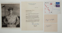 WWII Military Photograph and Autograph Lot