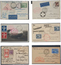 Transportation:Aviation, Fantastic Large Archive of Zeppelin Postcards, Postal Covers, andSilver Bromide Cigarette Card Photos, Circa 1909-1931....