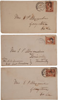 Autographs:Military Figures, Trio of Envelopes Addressed by Confederate General Edward PorterAlexander, Circa 1885 Along With Nine Other Covers Associated...(Total: 12 Items)