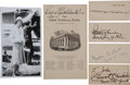 Transportation:Aviation, Early Aviation Pioneers Signature Lot - Amelia Earhart, EddieRickenbacker, Clarence Chamberlain, and George Haldeman....