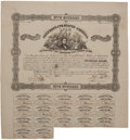 Autographs:Statesmen, Confederate States of America $500 Bond Signed by Robert Tyler....
