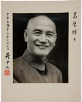 Autographs:Non-American, Chiang Kai-shek Presentation Photograph Signed....