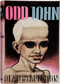 "Books:Signed Editions, Olaf Stapledon. Odd John. London: Methuen, [1935]. Firstedition, binding state ""A,"" per Currey. Octavo. v, 282 page..."