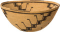 American Indian Art:Baskets, A PANAMINT COILED BOWL. c. 1930...