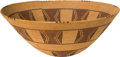 American Indian Art:Baskets, A PANAMINT POLYCHROME COILED BOWL. c. 1900...