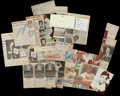Baseball Collectibles:Photos, Baseball Greats Signed Newspaper and Magazine Clippings Lot of 16....