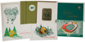 Football Collectibles:Others, Circa 1960's Green Bay Packers Team Issued Christmas Cards Lot of 7....