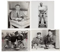 Football Collectibles:Photos, 1940's Curly Lambeau Green Bay Packers Original Press Photographs Lot of 4....