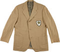 Football Collectibles:Uniforms, 1960's Green Bay Packers Staff Worn Suit Coat - From Personal Collection of Former Team Scout....