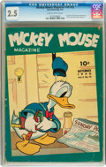 Golden Age (1938-1955):Cartoon Character, Mickey Mouse Magazine V5#12 (K. K. Publications/ Western Publishing Co., 1940) CGC GD+ 2.5 Slightly brittle pages....