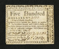 Colonial Notes:North Carolina, North Carolina May 10, 1780 $500 Divitiae Reipublicae Dant MihiPretium Very Fine.. ...
