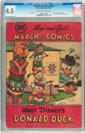 Golden Age (1938-1955):Funny Animal, March of Comics #69 Donald Duck (K. K. Publications, Inc., 1951)CGC VG+ 4.5 Cream to off-white pages....